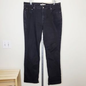 Levi's 505 Straight Leg Jeans In Black Wash